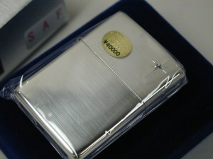 ジッポーzippo スターリングシルバー純銀無垢 サファイヤ15Sterling Silver