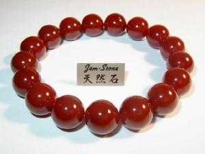 12mmブレスレット最高品質天然石 赤瑪瑙