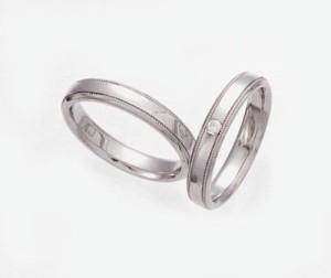 【ペアリング 結婚指輪】プラチナ900 マリッジリング ダイヤモンド 2点セット(C)
