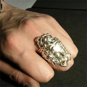 神話 妖魔メデューサシルバーリング 7〜23号【送料無料】指輪/メンズ/レディース/シルバー925/大きいサイズ