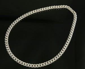 国産シルバー silver925 キヘイネックレス(幅7.0mm/長さ40cm/52g)