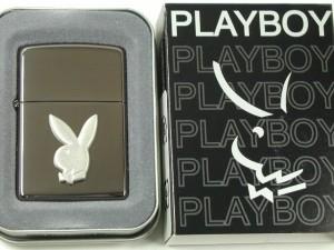 Zippoプレイボーイ Playboy 立体メタル・ブラックアイスPB110