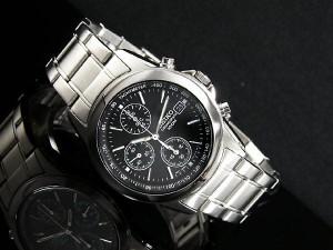 送料無料 SEIKO/腕時計セイコークロノグラフ メンズ ブラックSND309PC