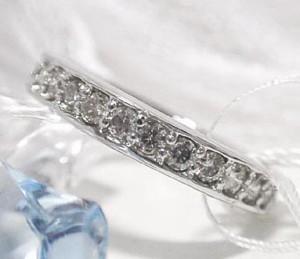0.5ctフルエタニティダイヤモンドプラチナリング