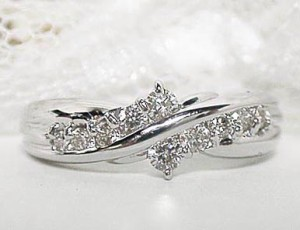 スィート10 ダイヤモンド の プラチナ リング -2:お届け:3週間