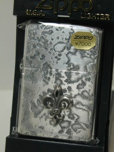 Zippo 銀いぶし立体メタル・幻想的なシルバー仕上(ユリ S)新品