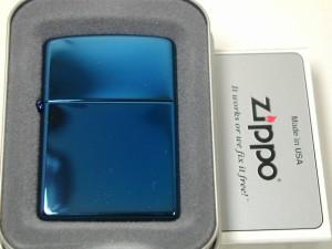 ZippoジッポーSapphireサファイヤブルー20446