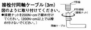 アンテナ部品:加工済アンテナ線「接栓付同軸ケーブル3m」C-FB-3A