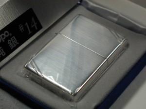 ジッポースターリングシルバー純銀ヴィンテージ#14ライン1937レプリカZippo