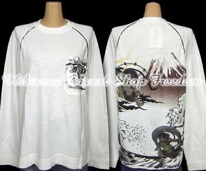 KARAKURI-TAMASHII 絡繰魂 富士に風神雷神刺繍長袖Tシャツ Lサイズ