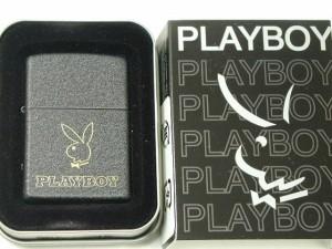 Zippoプレイボーイ Playboy 彫刻・ブラッククラックルPB105(希少)