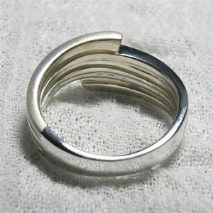 2カラーシルバーリング・9号〜15号 /シルバー925/シルバーアクセ/シルバーアクセサリー/指輪
