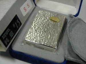 ジッポースターリングシルバー純銀無垢5面ハンマー槌目15S5