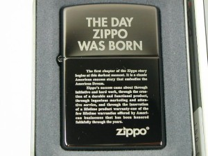 Zippo ブラックアイス150-548ジッポー誕生.
