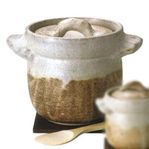 わら灰3合炊きご飯釜 敷板・へら付■おこげも美味しい自宅で簡単「銀シャリ」ご飯