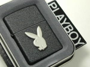 Zippoプレイボーイ Playboy 立体メタル・ブラッククラックル236PB110