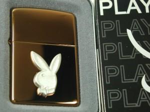 Zippoプレイボーイ Playboy 立体メタル・ハーベストブロンズPB110