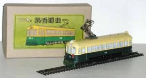 ブリキ屋【ブリキの路面電車 緑】