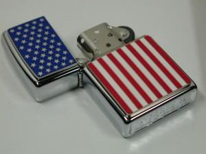 ジッポーZippo USA アメリカ国旗・全面メタル250(2003)