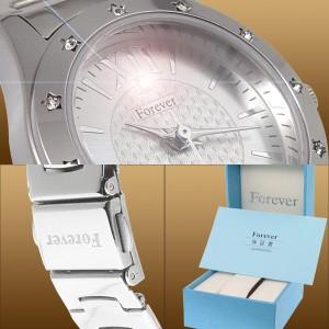 Forever*フォーエバー1ポイント天然ダイヤモンドウォッチ(腕時計)シルバーFL-506 送料無料