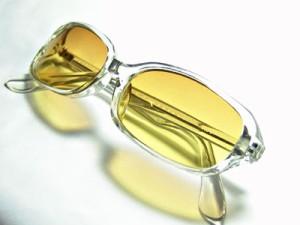 サングラス クリアフレームブラウングラデH006-2