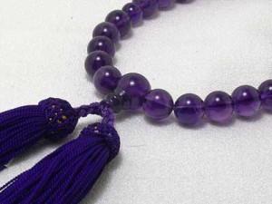 お念珠アメジスト(紫水晶)10ミリ珠数珠