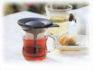 HARIO(ハリオ)【ワンカップティーメーカー(1人用)】一人分のお茶が手軽に淹れられます。  ティーポット