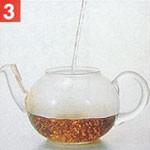 送料無料 HARIO(ハリオ)【ジャンピングティーポット(4人用)】茶葉が動き、ジャンピングがおこりやすい丸型ティーポット。