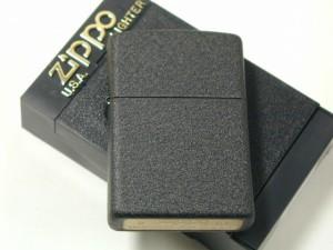ジッポーZippoブラッククラックル・プレイン#236