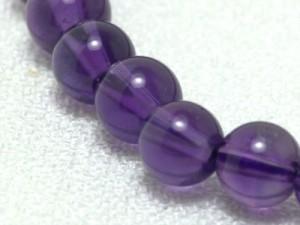 天然石ブレスレット アメジスト6ミリ珠