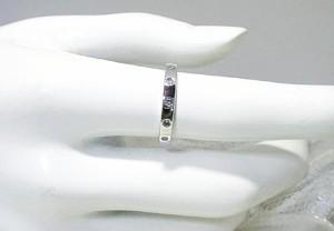 定番デザインダイヤモンドリング(K18WG)