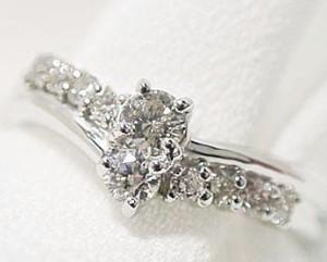 スィート10 プラチナ 0.3ctダイヤモンドリング お届け:3週間