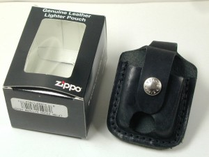 Zippo 革ケース・Zippo社純正品(黒)直輸入レアタイプ新品