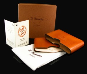 イルブセット/ILBussetto 牛革 名刺入カードケース