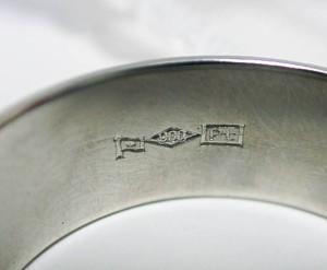 【造幣局検定刻印】8mm幅プラチナ900平打リング:5日以内