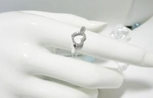 ハート に ダイヤ がいっぱい♪K18WG リング:お届け:3週間