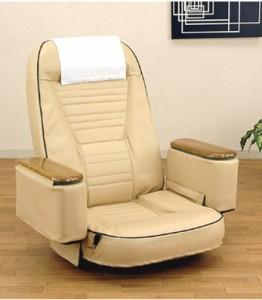 【送料無料!ポイント2%】お手入れ簡単!11段階リクライニング!ボックス付き回転座椅子