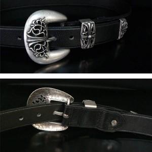 ★送料無料★本革レザー調ベルト★【belt1】