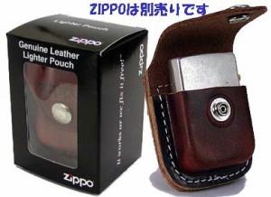 【ZIPPO】ジッポー革ケース★茶