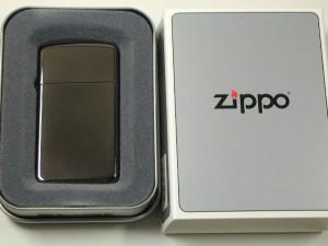 ジッポーZippoブラックアイスBlack Ice 20492スリム150