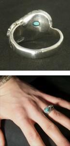 ターコイズを守る蛇シルバーリング 7〜23号【送料無料】指輪/メンズ/レディース/シルバー925/大きいサイズ