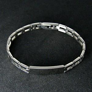31%OFF! 純チタンプレートブレスレット SAVER ONE(セイバーワン) /メンズアクセサリー チタニウム 腕輪 アレルギーフリー