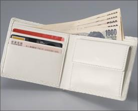 【送料無料】ホワイトスネーク(白蛇)二つ折り財布