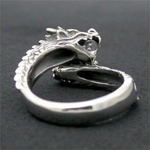 双頭の龍リング/水晶 7号〜23号【送料無料】指輪/メンズ/レディース/シルバー925/大きいサイズ