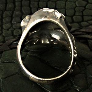 桜模様のスカルシルバーリング櫻sakura15〜30号【仁-ZIN-】【送料無料】指輪/メンズ/シルバー925/大きいサイズ/ブランド