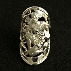 神話 アルテミスシルバーリング 7号〜23号 送料無料 /メンズ レディース アート シルバーアクセサリー 指輪