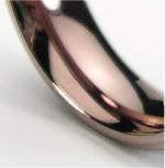 ステンレスリング ロマンティックブラウン 7〜23号 シンプル 指輪