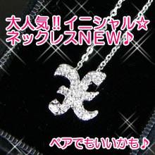 【n451】pt加工イニシャルネックレス★x