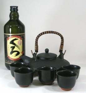 伝統の黒千代香5客ツル付 本格芋焼酎 小正酒造 小鶴 くろ 25度 720ml  B4