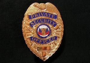 ポリスバッジ◆PRIVATE SECURITY OFFICER ゴールド